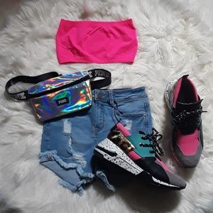Tops - 💕Neon Pink Bandeau Tube Top💕